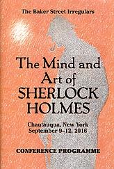 The Mind and Art of Sherlock Holmes Programme Cover